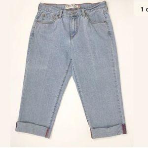 Levi's Classic Slim Capris Jeans Cuffed Size 12